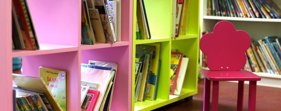 Espace lecture à la bibliothèque