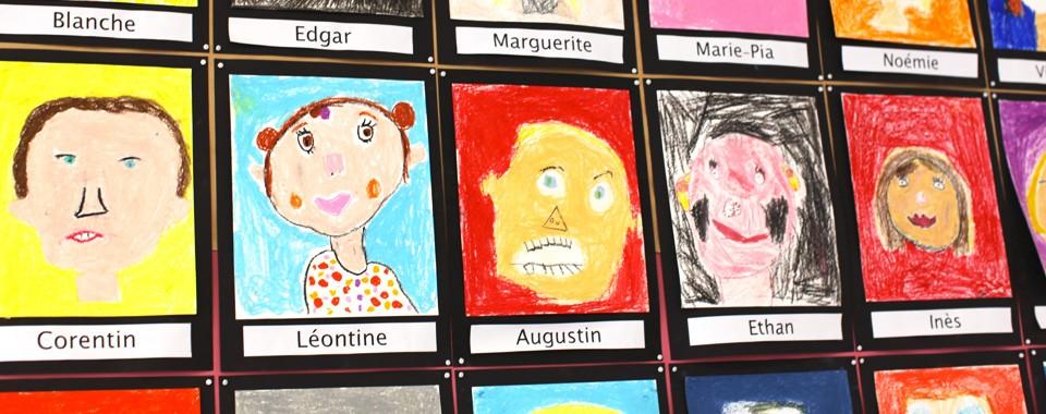 Auto-portrait classe de primaire – Ecole Saint-Yves