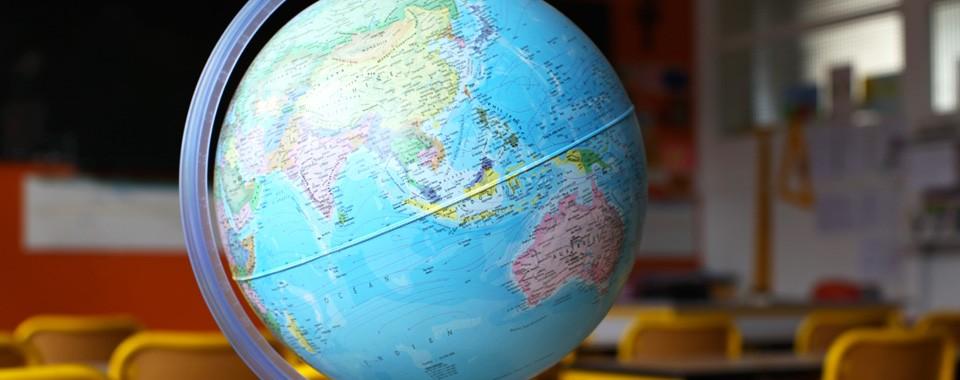 Classe de primaire – Map monde – Ecole Saint-Yves